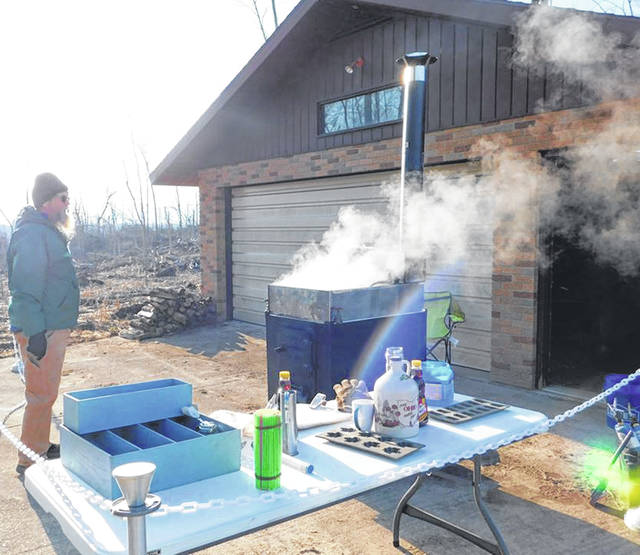 Photos courtesy GCP&T Greene County Parks & Trails Pancakes in the Park brought residents to Russ Nature Reserve March 7 to eat pancakes and learn all about maple syrup making.