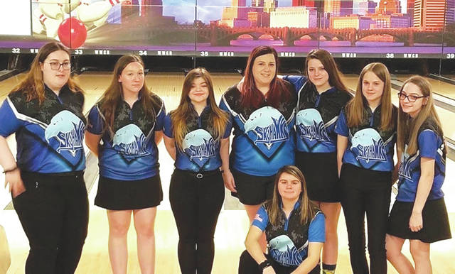 The Fairborn High School girls varsity bowling team finished second at the OHSAA state bowling championships, March 7, at Wayne Webb's Columbus Bowl, in Columbus. Members of the team are Morgan Woods, Natalie Hanson, Tessa Shearer, Sammi Laprarie, Samantha Eichman, Emma Boyd, Megan Cole and Kristen Bowman. Head coach of the Skyhawks is Eric Mrenak.