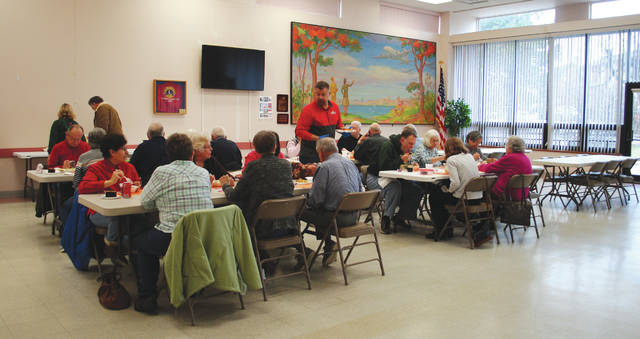 File photo The Fairborn Senior Center is open 9 a.m. to 5 p.m. Monday through Friday and hosts activities for local individuals aged 50 and elder. Pictured is a previous lunch it held for members.