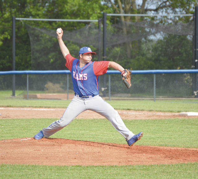 Jimmy Rawlins of Greeneview delivers a pitch in a high school baseball tournament game last season.