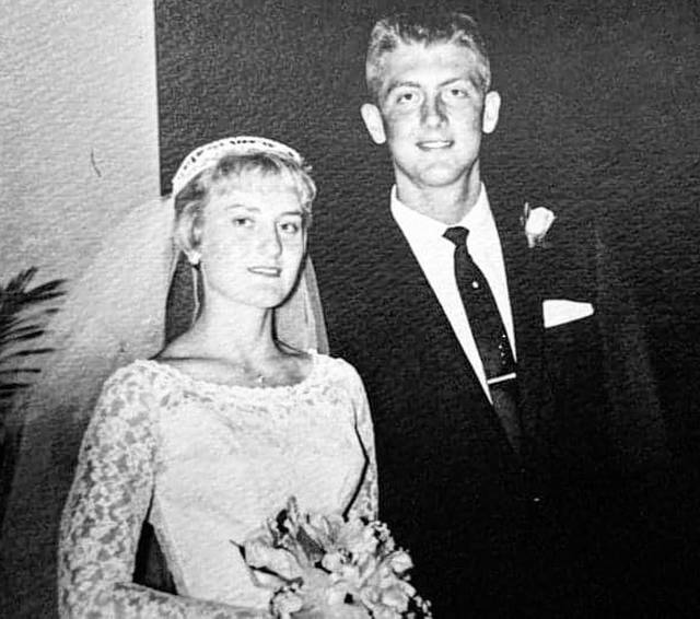Submitted photos Charles and Brenda Myers on their wedding day and more recently.