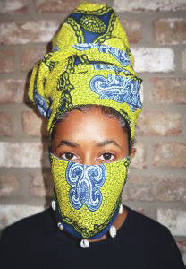 Submitted photo Miannah Lawrence wearing her award-winning mask.
