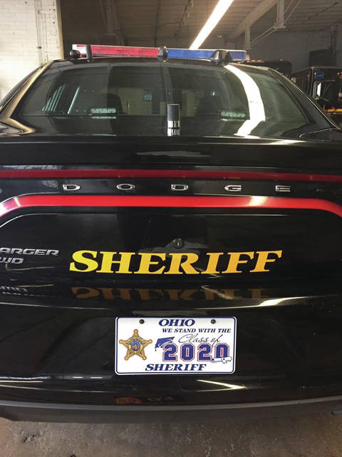 "Photo courtesy Greene County Sheriff's Office Greene County Sheriff's vehicles are paying tribute to class of 2020 graduates from all Greene County school districts. The license plates share the message: ""We stand with the Class of 2020."""