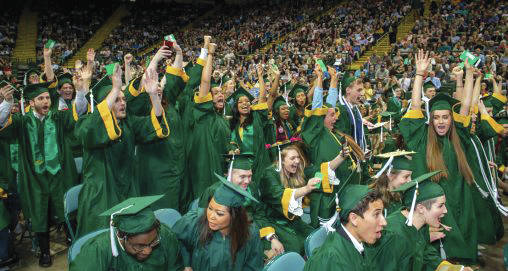 Submitted photo More than 2,100 Wright State students have completed the requirements for graduation. The spring class of 2020 includes graduates who will receive 1,490 bachelor's degrees, 576 master's degrees, 25 doctoral degrees and 29 associate degrees.