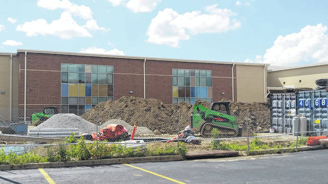 London Bishop | Greene County News Much of the new Fairborn Primary School building's architecture, including its windows, place emphasis on color and natural lighting.