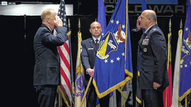 Screenshot  Col. Patrick Miller assumes command of the 88th Air Base Wing.