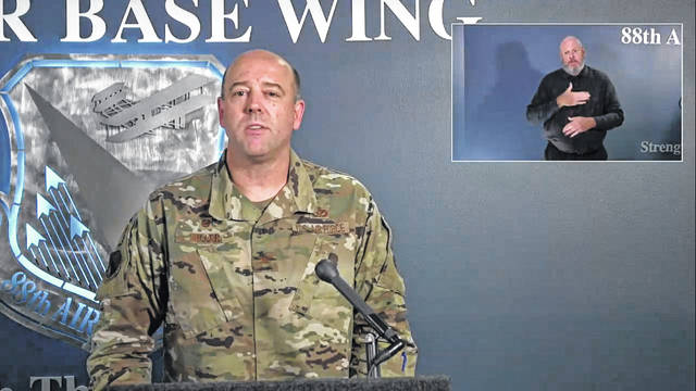 Screenshot Col. Patrick Miller addressed members of the public in a Facebook town hall Wednesday.