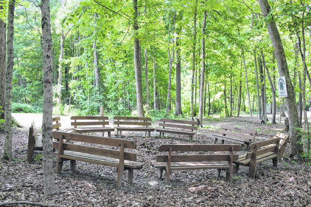Anna Bolton | Greene County News Camps at Camp Clifton have been canceled this summer due to the COVID-19 pandemic, but the non-profit is raising funds in hopes of re-opening next season. For now, the Counselors' Circle is empty.