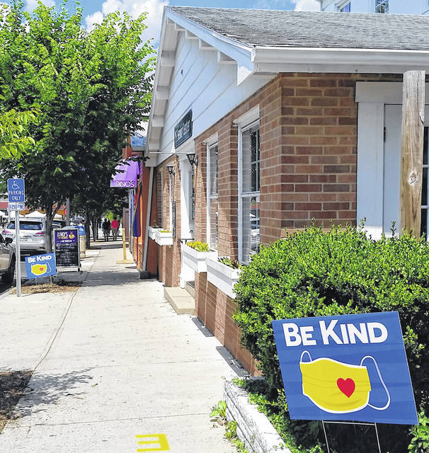 London Bishop | Greene County News Yellow Springs Village Council passed a resolution Monday requiring residents and visitors of the Central Business District to wear masks, maintain social distancing, and engage in frequent hand-washing.