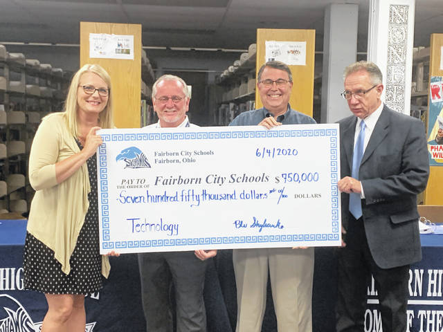 Submitted photo A Fairborn alumnus, who requested anonymity, donated $750,000 to the Fairborn City School District to update and add technology for student use.