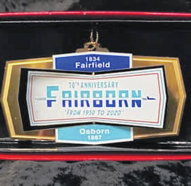 Submitted photo Schwartz Jewelers has made available Christmas ornaments commemorating Fairborn's 70th year.