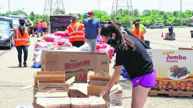 File photo The Foodbank served just under 700 households during its June distribution at the Nutter Center.
