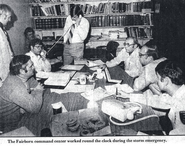 Submitted photos The 1978 blizzard command center worked around the clock to support people locked in by snow.