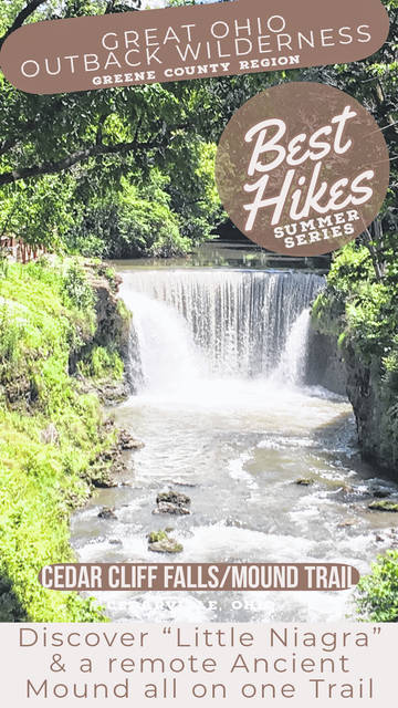 "Ron Brohm | Greene County News: Visitors should check out the roaring falls of the ""Little Niagara"" — Cedar Cliff Falls — and the new observation/ lookout decks."