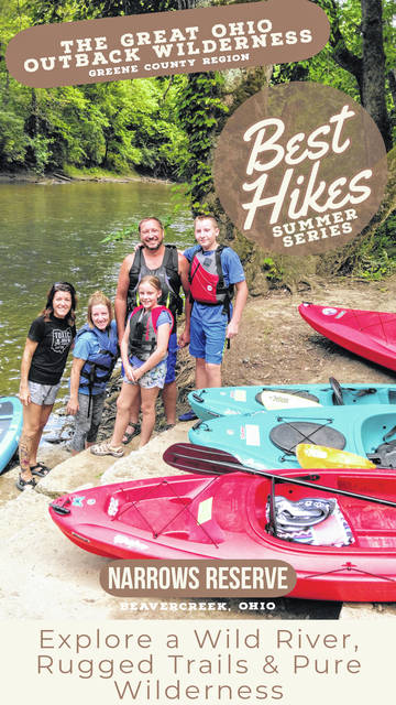 Rachel Muscato, Sarah Nicholson, Lauren, Tom Nicholson and Wes launch their kayaks in the Narrows Reserve for a trip down the river to Constitution Park.
