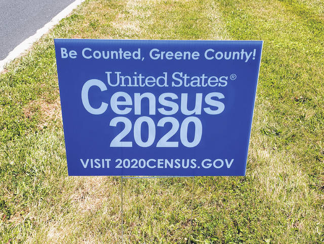 Submitted photo Census 2020 signs can be spotted around Greene County.