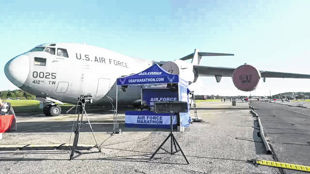 The 2020 Air Force Marathon livestreams events and interviews from Wright-Patterson Air Force Base.