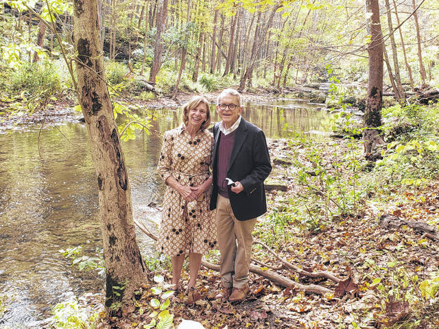 Governor Mike DeWine and First Lady Fran DeWine enjoy their day at John Bryan State Park
