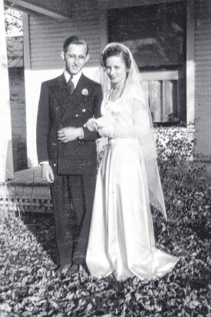 Lee Gebhart married Elinor Layton on Saturday, October 6, 1945.
