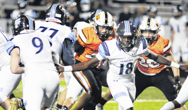 File photo Fairborn's Hunter Warner (9) is one of two running backs on the All-Greene County team.