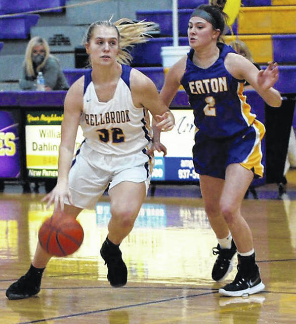 Olivia Trusty, shown against Eaton earlier this season, came off the bench to score 10 points in Bellbrook's big win over Northmont Thursday.