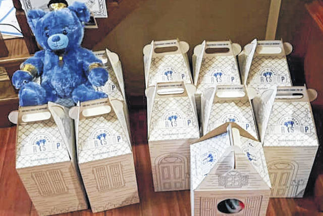 Photos courtesy of Callista Hess Callista Hess and her family coordinate an annual build a bear campaign, during which bears are given to patients at Dayton Children's Hospital before Christmas.