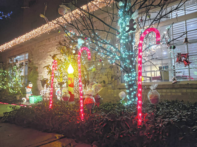 Employees at Wickshire assisted living in Fairborn created a Christmas light show in the courtyard of the facility in order to bring a bit of cheer to the holidays for their residents.