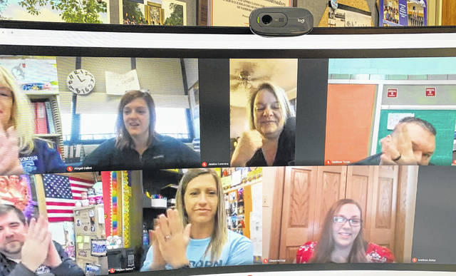 Baker Middle School Students of the Month are honored virtually.