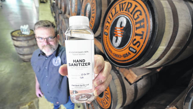 Stillwrights spent part of the pandemic making hand sanitizer for first responders, including medical personnel at Wright-Patterson Air Force Base.