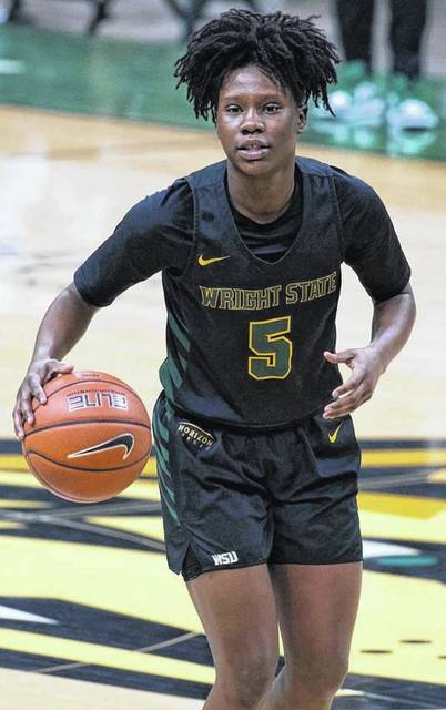 Photo courtesy Wright State University athletics Emani Jefferson was named the Horizon League's Freshman of the Week for the second time this season.