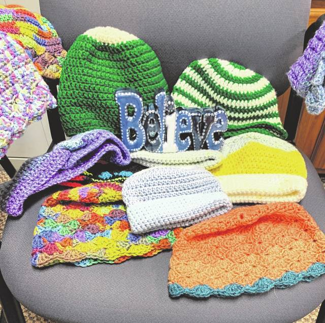 Fairborn mom Amanda Szary croceheted approximately 15 hats for Fairborn students in need.
