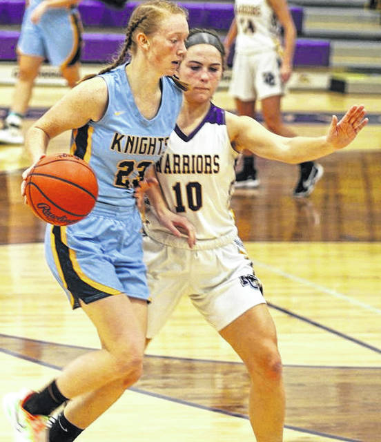 File photos Legacy Christian Academy senior Emma Hess (left) was named Southwest District Division-IV Player of the Year by a media panel.