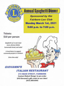Fairborn High School Leo Club fundraiser