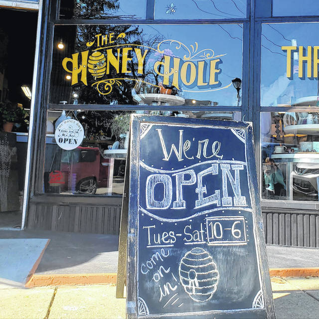 Honey Hole Thrift Store opened its doors for business the morning of Tuesday, March 2, located on S Central Avenue in Fairborn.