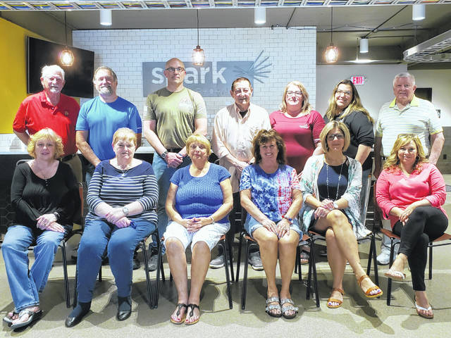 The 2021 Fairborn Festival Committee, front row (left to right) Ellen Farthing, Ellen Brunson, Connie Newman, Co-chair Linda Hall, Co-chair Jamie Brauer, and Amanda Majors. Back row (left to right) Fred Pumroy, Mike Foy, Bill Titley, Tony Babiarz, April Van Dyne, Kara Willis, and Paul Newman Sr.