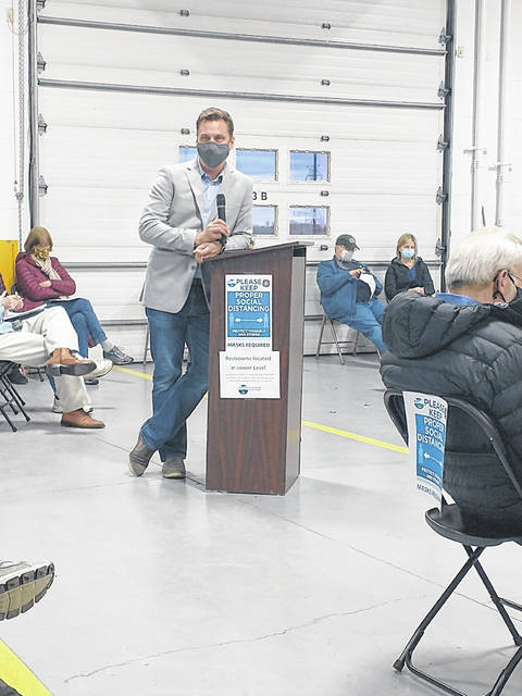 Beavercreek resident and Applicant/Developer Mark McIntire was the first person to speak at the recent Beavercreek Township Zoning Commission's public hearing to discuss Case #821. - Darryl McGee | Greene County News
