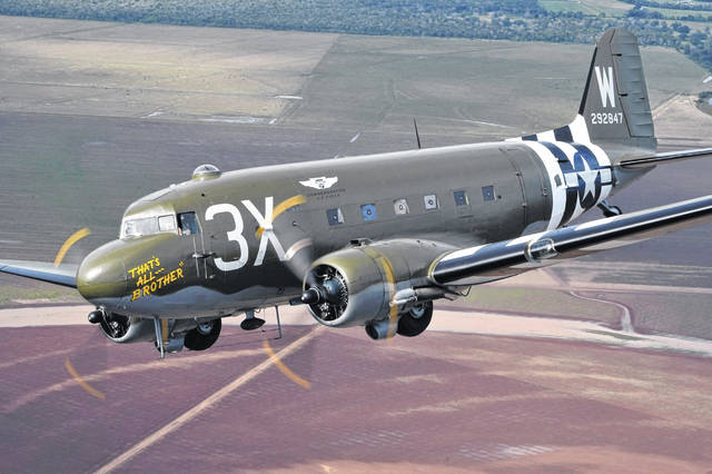Submitted photo That's All, Brother is a Douglas C-47 that led the airborne invasion of Normandy during World War II. The plane will visit the NMUSAF April 20-22.