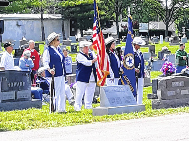 Submitted photos Dignam-Whitmore Post 526 and Airmen from Wright-Patterson Air Force Base celebrate Memorial Day at Fairfield Cemetery.