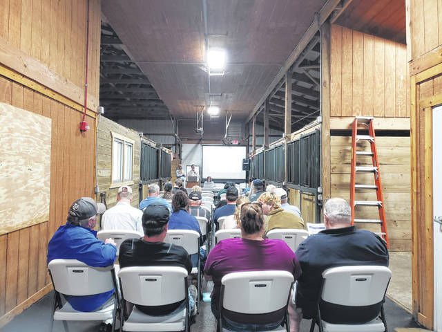 London Bishop | Greene County News Sheridans, LLC conducts the auction for the equine science facilities at the former Greene County Career Center.