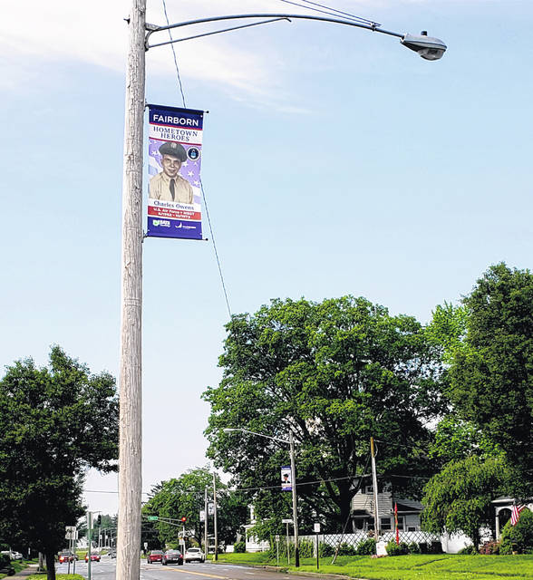 Photos by London Bishop | Greene County News The Hometown Heroes banner program honors past and present military personnel from Fairborn, Fairfield, Osborn, Bath Township and Wright-Patterson Air Force Base.