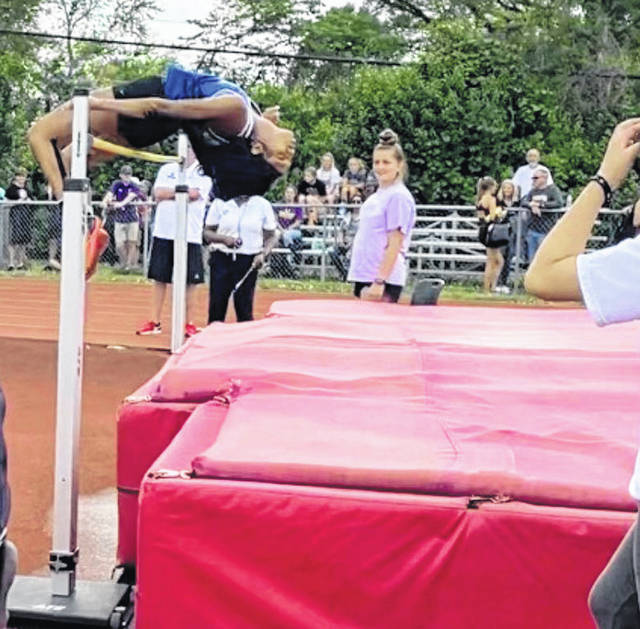 Photo courtesy Xenia Athletics Xenia's Reaghan Wakefield clears the bar during the Division I district championship. She placed first, qualifying for the regional, where she then qualified for state. Wakefield finished fourth at the state championship.