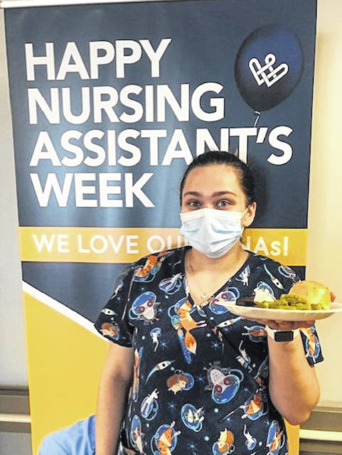 Submitted photo Nursing Assistant Rayven Ritchie at Wright Rehabilitation and Healthcare Center.