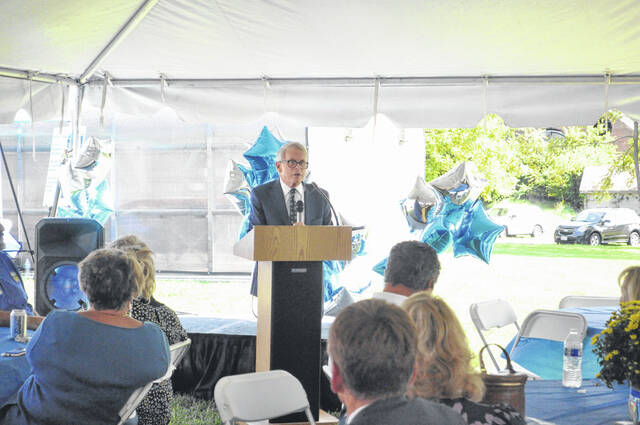 Gov. Mike DeWine attended the open house and spoke about the importance of the juvenile court judge and local intervention.