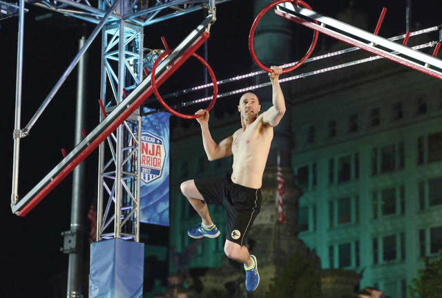 """Provided photo Area resident Dan Arnold takes on the """"Ring Jump"""" in the Cleveland Qualifiers for popular television program """"American Ninja Warrior."""" Arnold qualified to compete in the Cleveland Finals, which will air later this summer."""