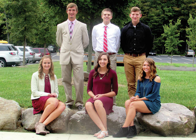 Provided photo The Milton-Union homecoming court includes (from left to right in each row) Alex Moore, Will Brock, Keltonn Dillhoff, Madison Hoffman, Abbie Goudy, Mia Morphew. Homecoming was held in September. Abbie Goudy was crowned Queen and Will Brock was crowned King.
