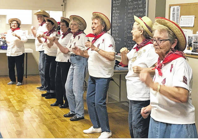 Provided photo Some of the ladies from the Tipp City Seniors Inc. get together every Wednesday at 10 a.m. to line dance. Once a year they preform for the membership. It's amazing watching these dancers do their thing and much fun is had by all.