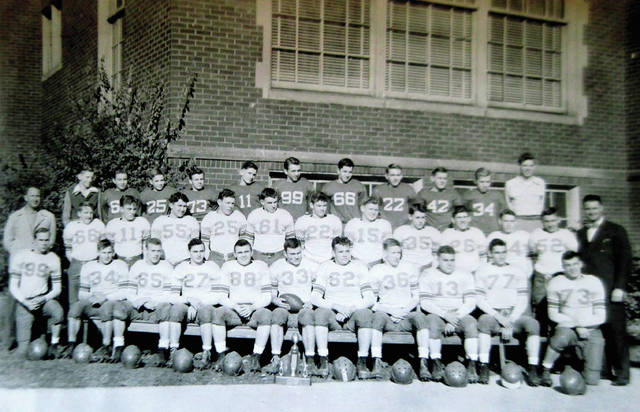 "Photo provided by the Tippecanoe Historical Museum The champion 1947 team included, in the first row: Clarence ""Bud"" Helke, Roger Bodiker, David Smith, Jack Rhynard, Kenneth Foster, John Henn, Jim Jackson, Bob Jackson, Kermit Knisley, Bill Kessler and J. ""Buck"" Weikert. Row two: Coach Feinerer, Dave Spitzer, Jack Blubaugh, Bill Brayshaw, Don Shoup, Raymond Fraser, Chuck Wenzlau, Forrest Hay, Garth Glaser, Dale Kinnison, Tom Wintrow, Don Martindale and Coach Armbruster. Row three: Manager Malcolm Lovell, Lewis Younce, Tom Kyle, Jack Weikert, Bill Thompson, Leonard Hellyer, Norman Barnhart, Jim Hartley, and Manager Howard Rousseau."