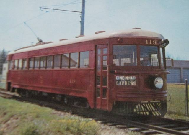 "Photo courtesy of the Tippecanoe Historical Society The above picture is of the Cincinnati & Lake Erie high-speed inter urban car No. 119. It was capable of traveling at 90 mph Its nickname was ""The Red Devil"" and it ran on the tracks through Tipp. There has been debate as to whether it is why the Tipp athletic teams got the name of Tipp City Red Devils. It was fast and demanded high performance. The museum would be interested in your opinions. They have a number of items for sale including Susan Furlong's books, Tippecanoe coverlets, ornaments, T-shirts and sweatshirts. The museum is open Wednesdays from 2-4 p.m. and Saturdays from 10 a.m. to noon or by appointment. During winter those hours are weather permitting. For questions, comments, or to see if we are open, call Gordon at 667-3051 or Susie at 698-6798."
