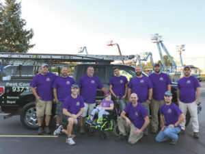 Local business goes purple for Rett Syndrome awareness