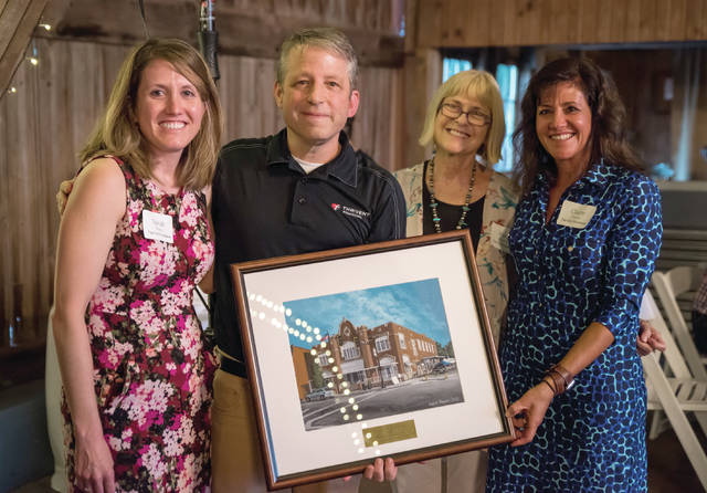 Provided photo Matt Buehrer, pictured with Tipp City Foundation members Sarah Worley, Mary Bowman and Claire Timmer, was recognized as the 2018 Philanthropist of the Year by the foundation.